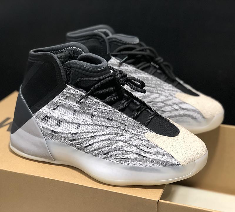 PK Sürüm Basketbol Kuantum Sneaker Gri Siyah Kadınlar 3M Yansıtıcı Hava Sport Chaussures Scarpe Koşu Ayakkabısı QNTM Kanye West Ayakkabı