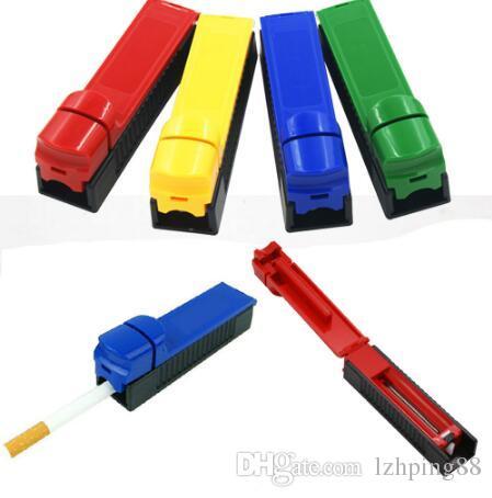 Cigarette machine Manual Cigarette Tube Rolling Machine Tobacco Roller Maker Random Color