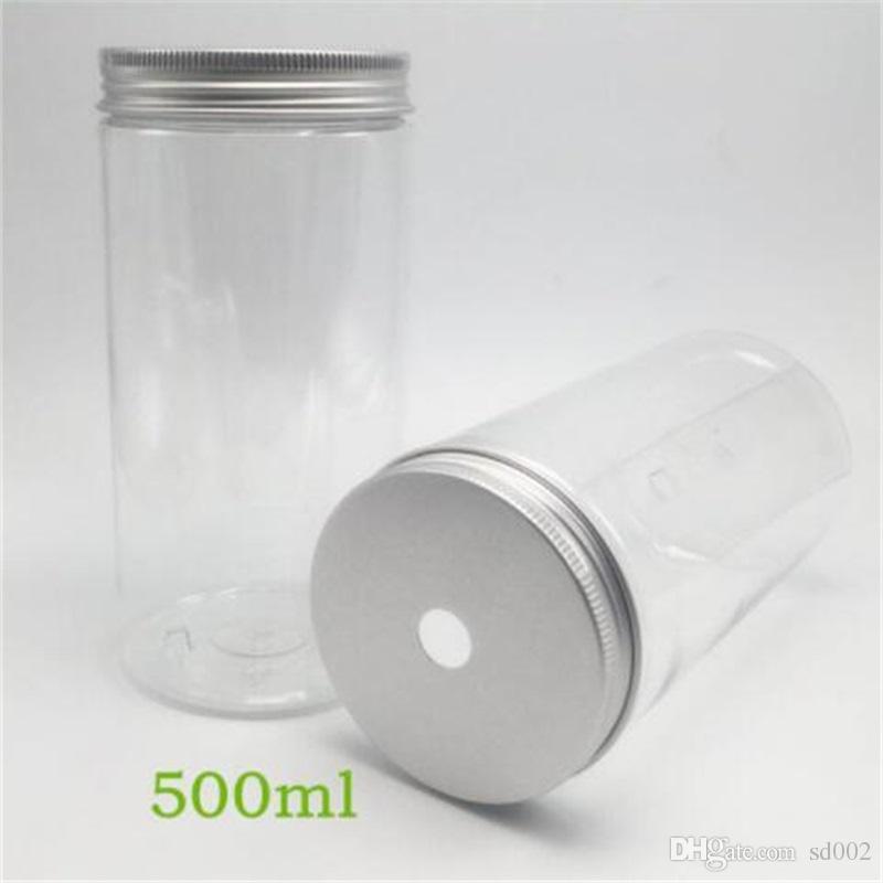 뜨거운 판매 내열성 Sessile 유행 500ml 건강 플라스틱 휴대용 투명한 알루미늄 모자 똑 바른 물병 1 55ms UU