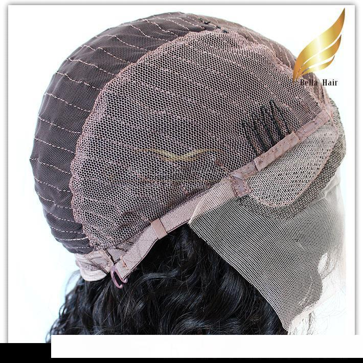H Full Lace Front Wigs For Black Women 150 %Density Brazilian Virgin Human Hair Weaves Straight Bob Medium Cap Middle Part Bob Bellahai