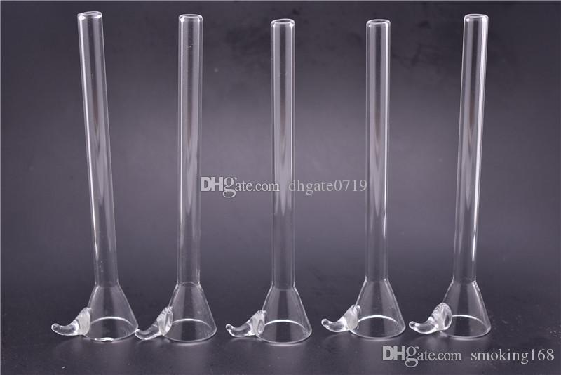 Verre tige curseur Style Entonnoir avec poignée Fabrication de verre pas cher Homme Tige, downstem simple pour tuyau d'eau accessoires de tuyauterie d'eau faites maison