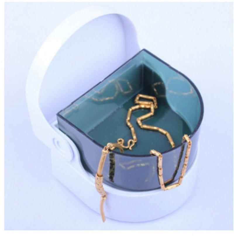 Nettoyant bijoux Nettoyeur à ultrasons sans fil Mini machine de nettoyage pour pièces Montre bague Collier dentier Nettoyeur à ultrasons Bain machine