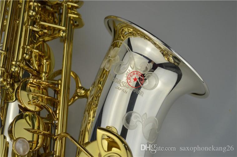Brand NEW YANAGISAWA W-037 Alto Saxophone Nickel Plated Gold Key Professional YANAGISAWA Super Play Sax Mouthpiece With Case