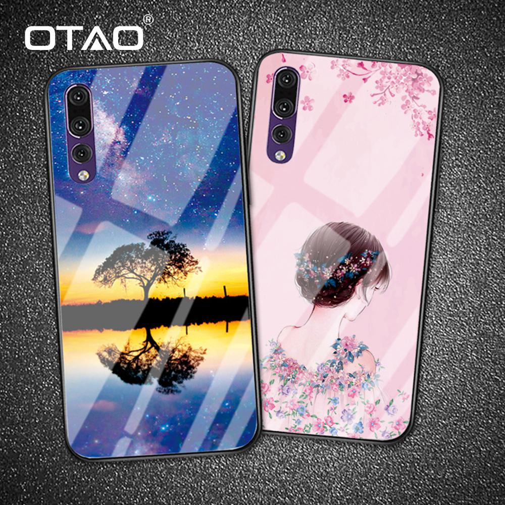 Luxury Tempered Glass Phone Case For Huawei P20 P10 Pro Mate 10 9 Nova 2 2s 3 Cases For Honor Play 8 9 Note 10 Back Cover