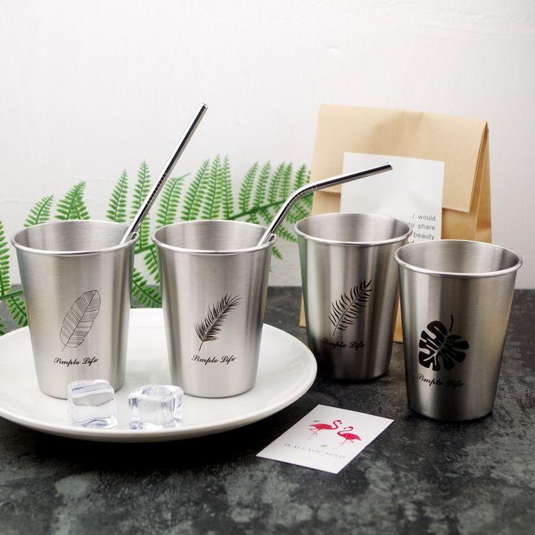 INS 304 чашка из нержавеющей стали металлическая вода пиво кофейные кружки лето экологически чистый стакан