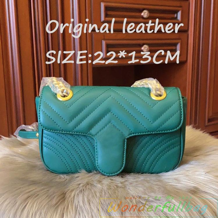 Designer crossbody saco mulheres cadeia bolsas bolsa de couro original de alta qualidade 22 * 13 centímetros Coração V Ondas,