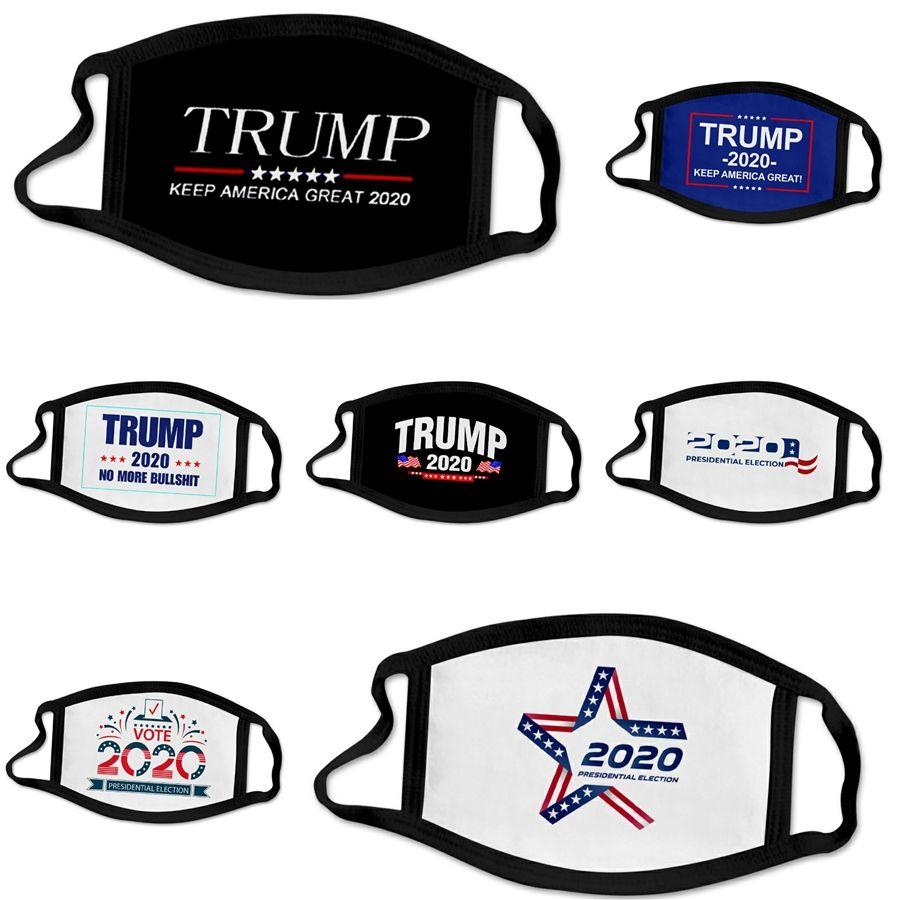 Máscaras de diseño Trump Cara Máscaras Niño Niña de dibujos animados Boca Cara transpirable Earloop reutilizable lavable de algodón máscara # 157