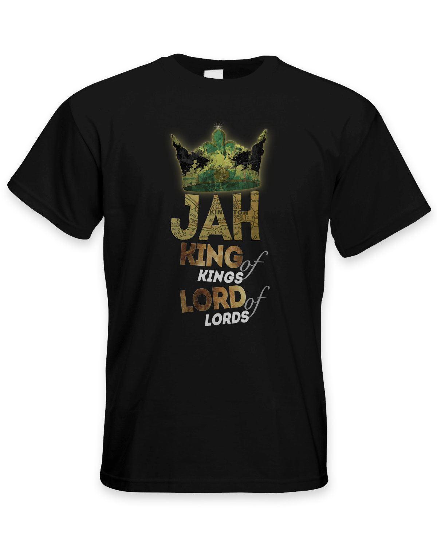 Jah Царь царей раста регги Мужская футболка - растафари Bob Marley Прохладный Повседневная гордость тенниска мужчин унисекс Новая мода Футболки