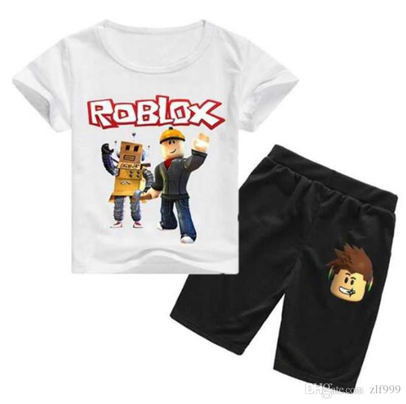 Kids Boys Girls Outfits Sets Cartoon Short Sleeve T-Shirt Shorts Sleepwear