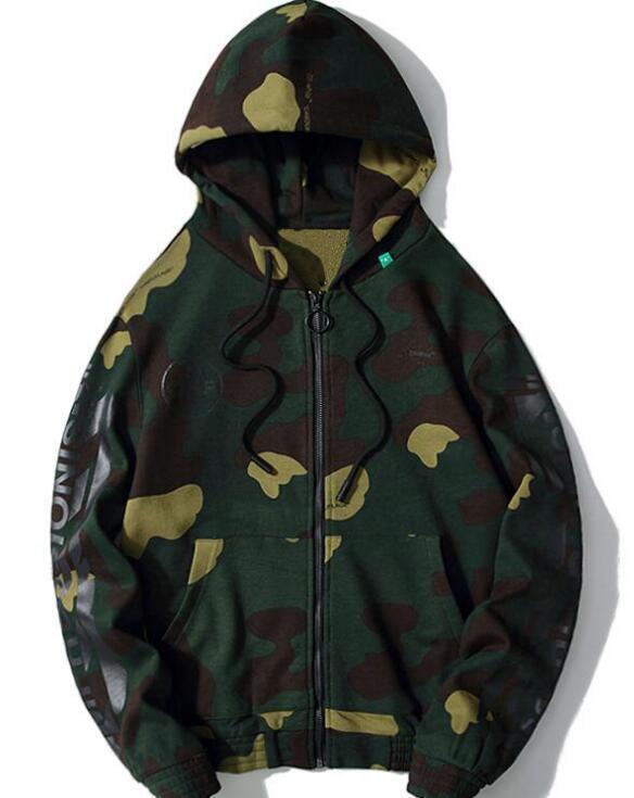 Designer off felpa con cappuccio classica 99 camuffamento graffiti OW cappuccio zip maglione uomini e donne con lo stesso cappotto di alta qualità 02 VICI