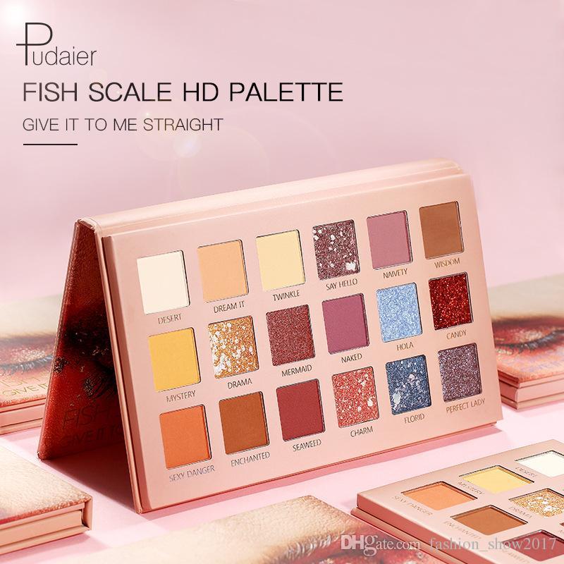 Pudaier 18 Color Makeup صبغات ظلال Palletes ملون عاري للماء بريق سموكي ظلال العيون 18 لون المكياج لوحة