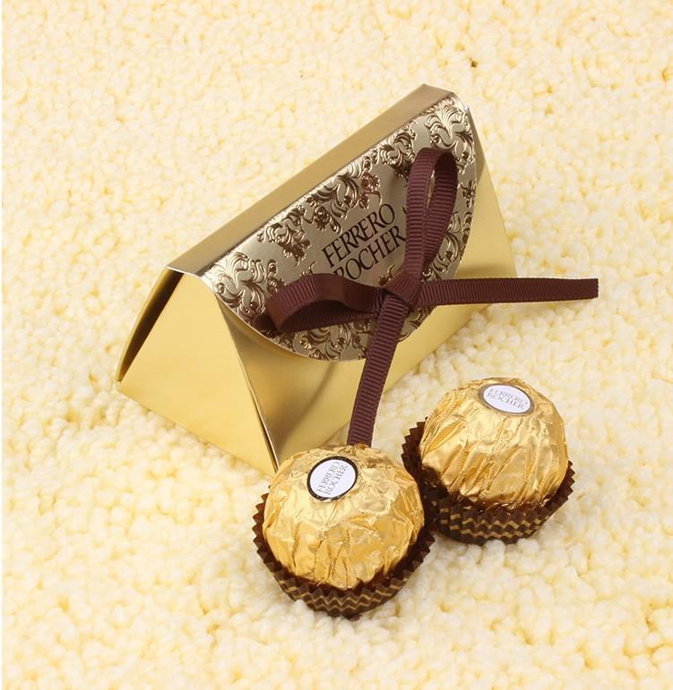 Düğün iyilik ve hediyeler Bebek Kağıt Şeker Kutusu Ferrero Rocher Kutuları Düğün Tatlı Hediyeler Çanta Malzemeleri Yana