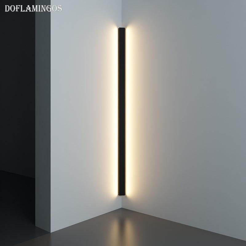 LED moderna Canto Lâmpada de parede minimalista interior luminária arandelas de parede Stair 100 centímetros 150 centímetros de cabeceira quarto Início Corredor Luz