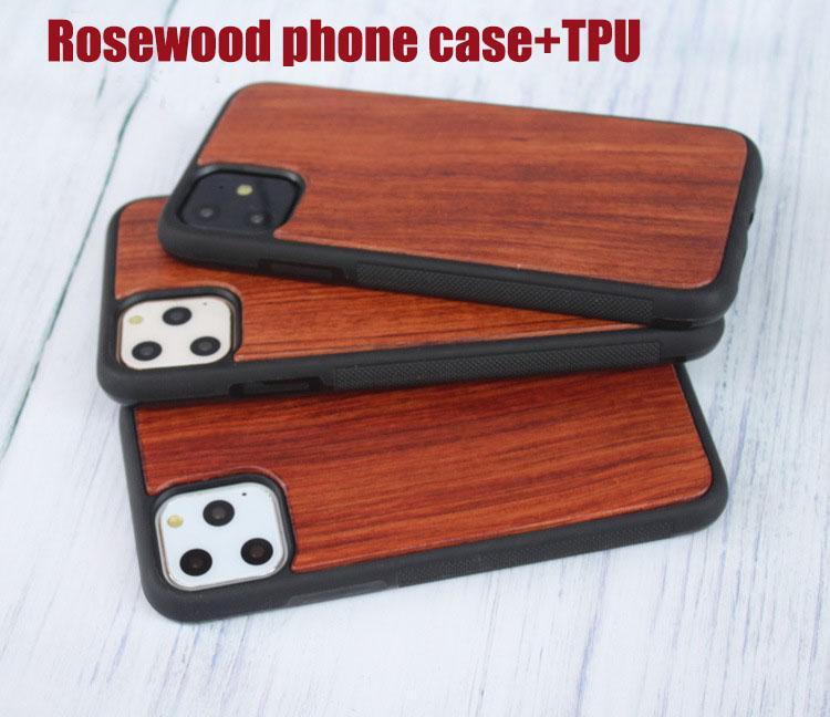 고급 독특한 디자인 조각은 아이폰 X의 아이폰 (11) 휴대 전화 커버를위한 나무 전화 케이스 장미