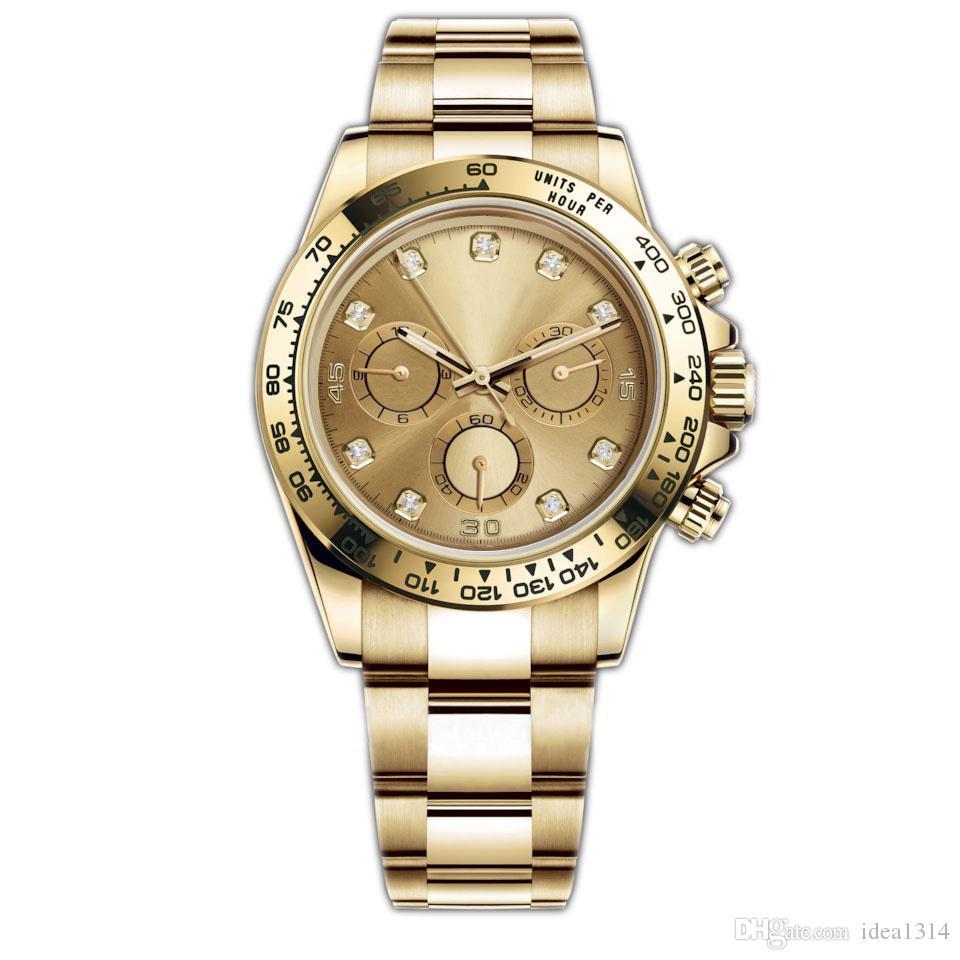 Vigilanza calda di vendita TONA 116500LN Designer Guarda Montre De Luxe automatico orologio da polso in argento lunetta in ceramica 316L acciaio fibbia pieghevole Adustable