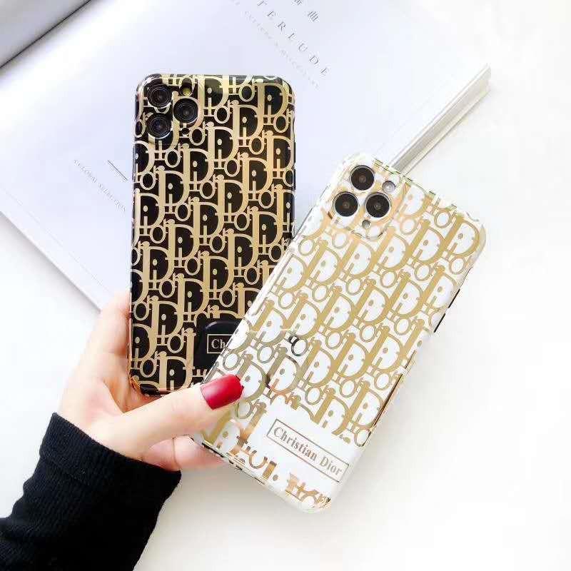 Moda carimbo de ouro de telefone caso do iPhone para iPhone Para X XS Max XR macio TPU tampa 11 PRO MAX 7 8 Plus Glitter Back Cover Coque