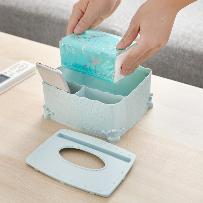 Housekeeping Multifunktions-Desktop-Debris-Speicher-Organisator-Kasten für Serviette, Make-up Utensilien Hüllen 12,26