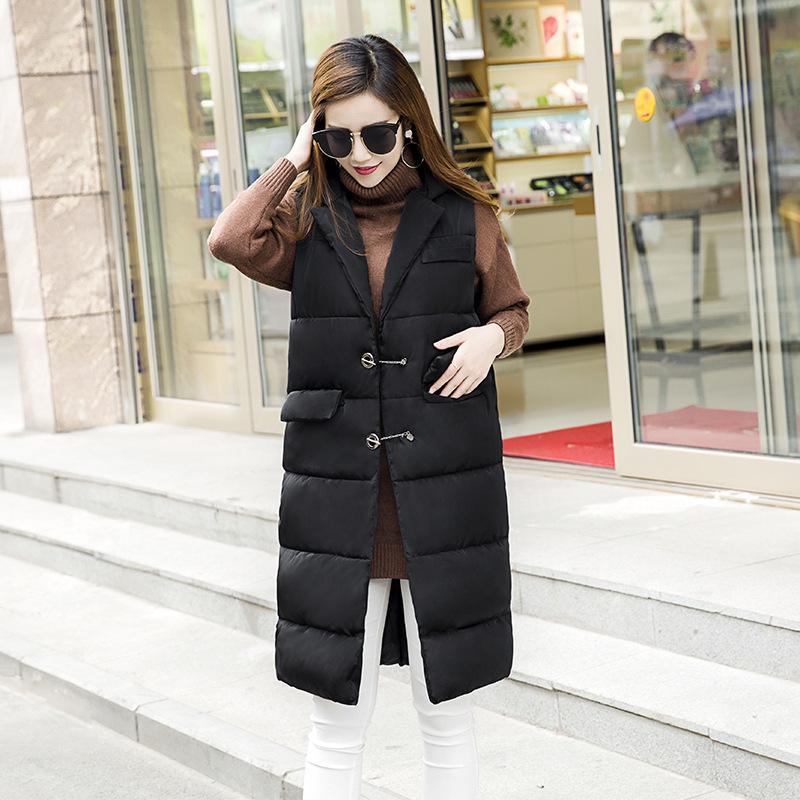 Женские жилеты 2021 зима в длинном участке жилетной куртки женские женщины Черт возьми, Wooden Colete de Pele A642