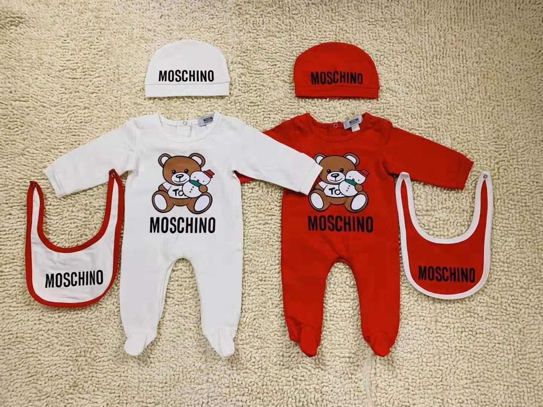 Bebek Giyim Romper Yenidoğan Boys Kız Giyim Marka Etiket Uzun Kollu Bebek Tulum Bebek Tulum Önlüğü Hat 3adet Seti