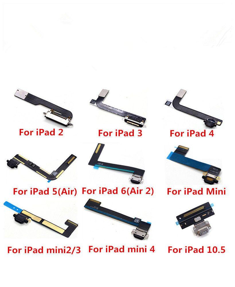 10PCS New USB Charging Dock Connector Charging Port Flex cable Ribbon For ipad 2 3 4 AIR 5 AIR2 6 mini 2 3 4 PRO 9.7 10.5 12.9