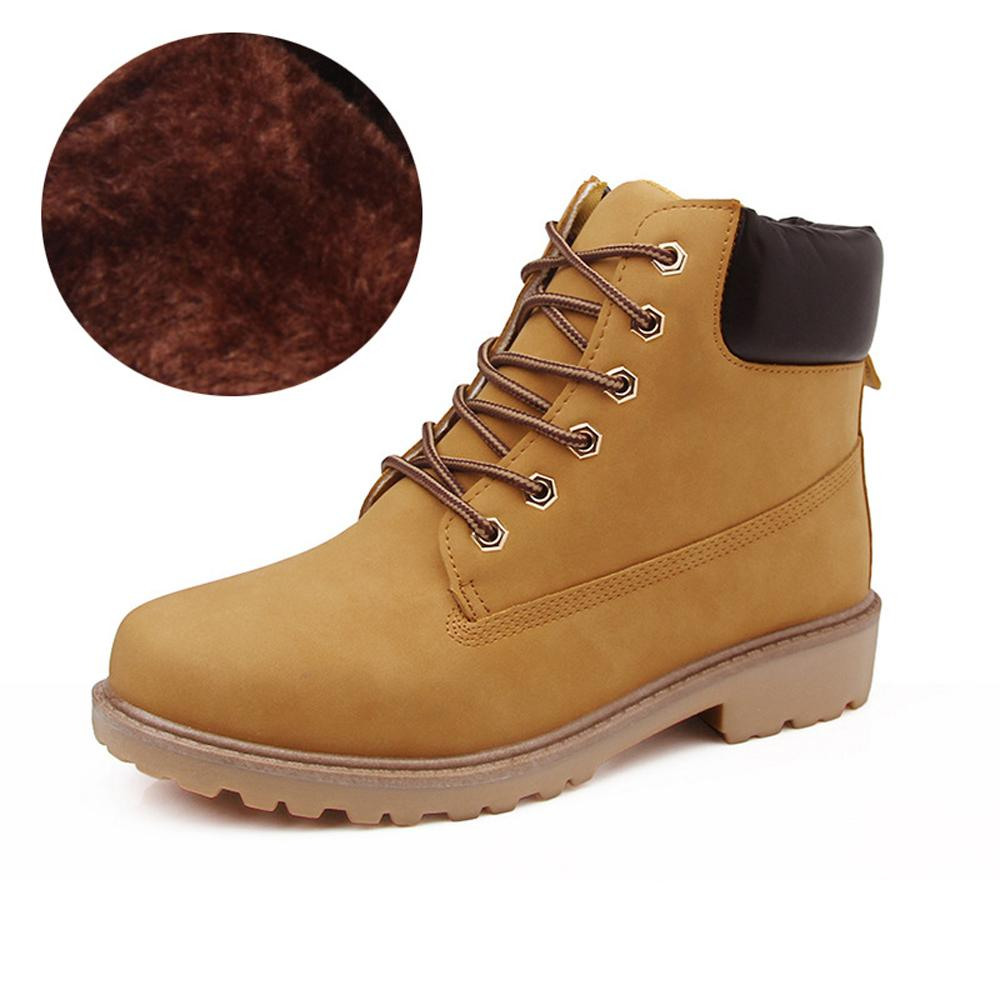 Venta caliente-Botas para hombre de invierno más botines de nieve de terciopelo Botines antideslizantes al aire libre Zapatos británicos Martin Zapatos de gran tamaño negros Zapatos de hombre