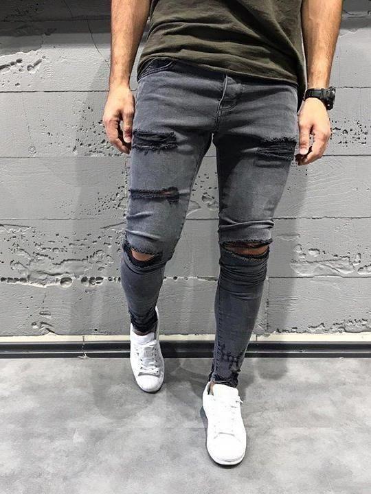 Serie - Torn Detroid Olio - 3x dei jeans degli uomini