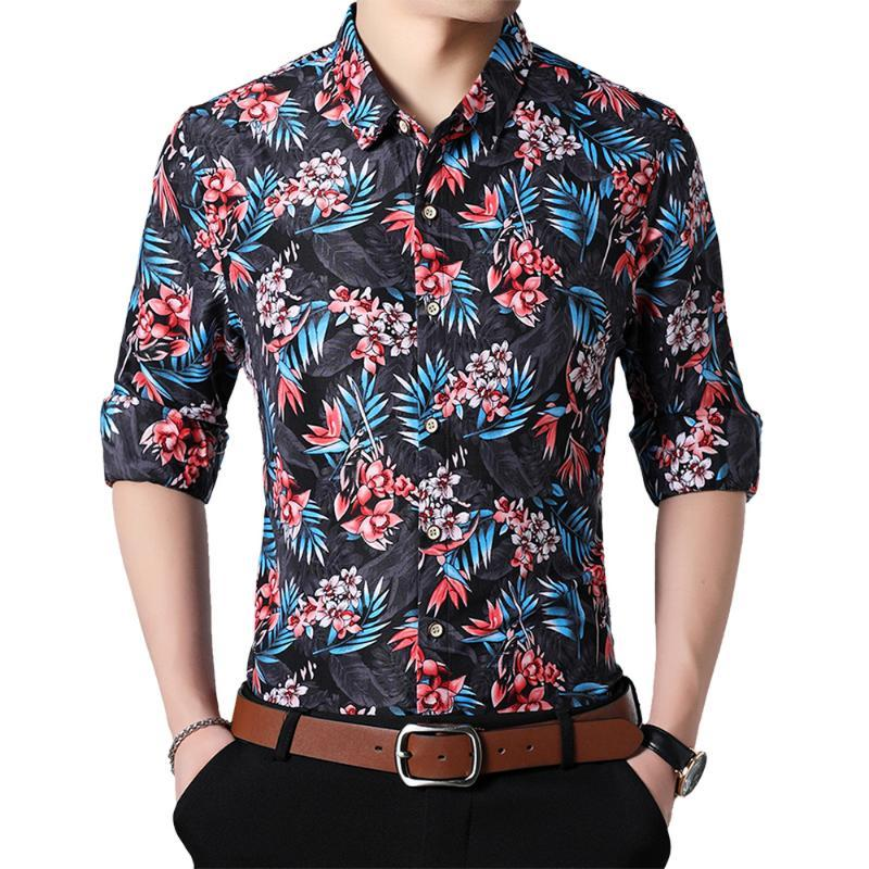 Mens Long-Sleeves Button Up Tees Pocket Fit Oversize Lapel Top Shirts