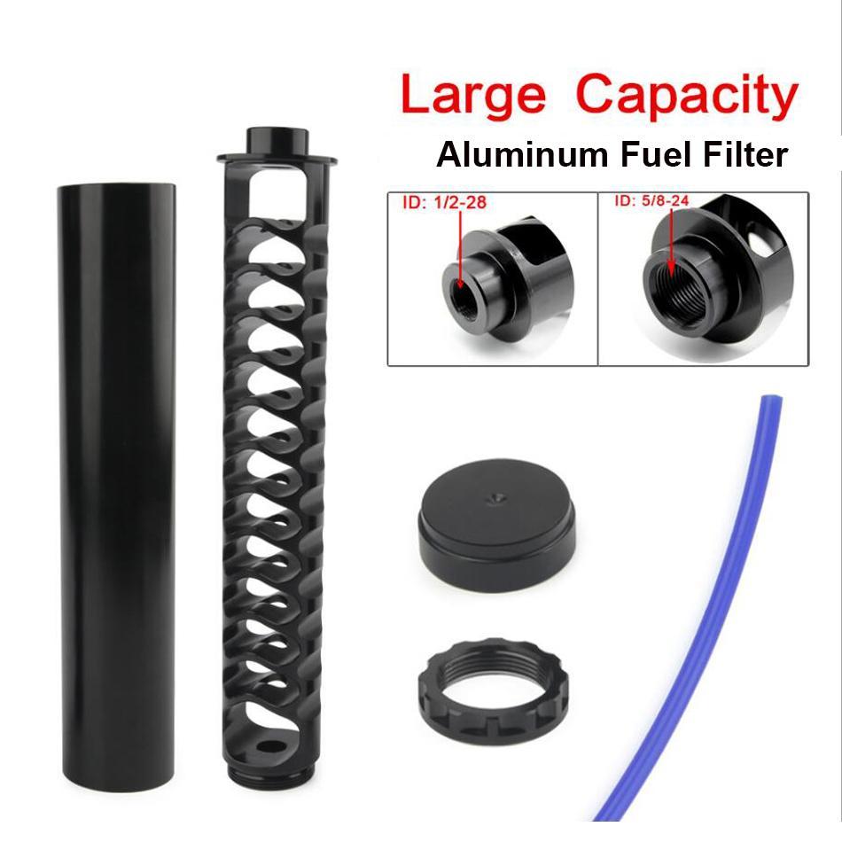 10inch 6inch لولبية فلتر الوقود سيارة 1/2-28 أو 5/8-24 فخ المذيبات السيارات ل NAPA 4003 WIX 24003 الألومنيوم