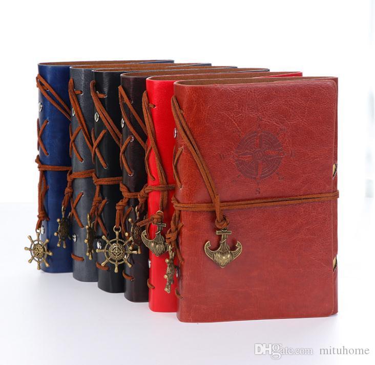 خمر قراصنة جلدية بو الدفتري الأزياء اختيار ورق كرافت الأعمال يوميات كتاب فضفاضة أوراق المفكرة طالب ملاحظة كتاب