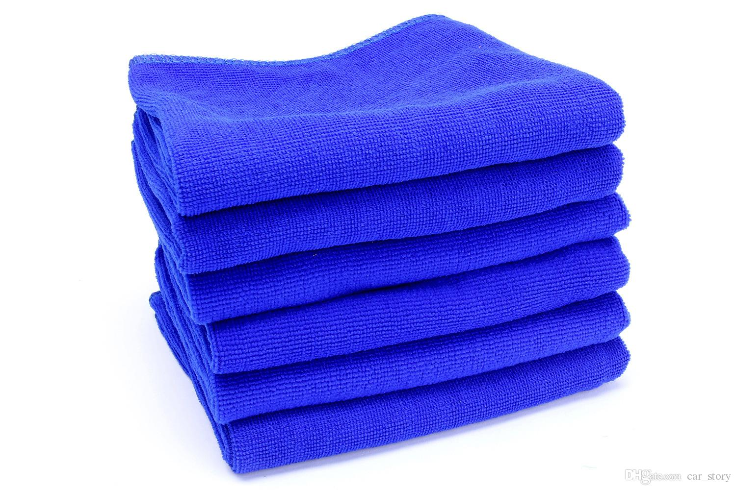 Blue Soft Microfiber Cleaning Towel for Car Washing Cloth Auto Care Square Home Bathroom Kitchen Detergency Towels 30*30cm , 30*70cm