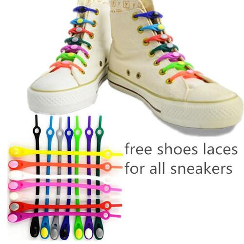 most popular huge selection of first rate 2019 New Adjustable Silicone Lazy Elastic No Tie Shoelaces Colorful Free  Shoelace Easy Shoe Laces For Adults Kids Unisex All Sneakers From Jcheng,  ...