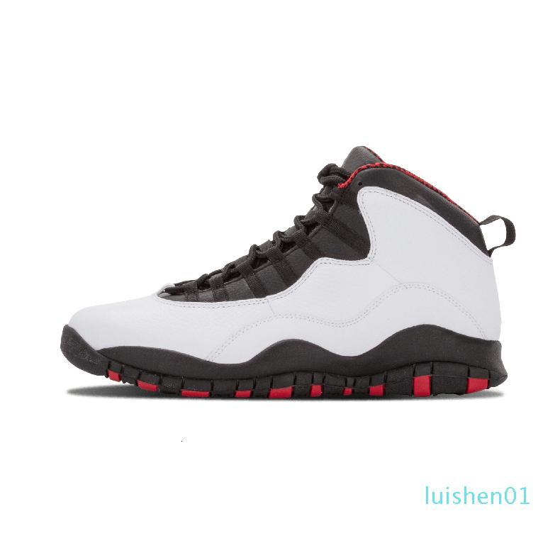 Mens Basketball 10 Tinker ciment 10s Chaussures Hommes Orlando Gris Gris Chicage Rafraîchissez Iam Retour Poudre Formateurs Bleu Sport Sneaker Taille 7-13l01