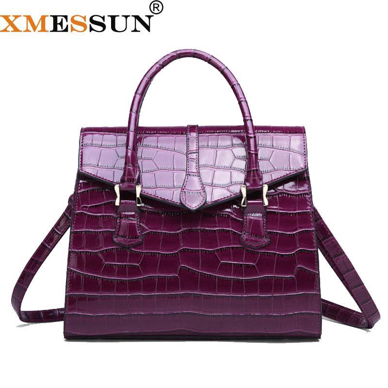 XMESSUN donne del modello del coccodrillo della borsa della signora Shoulder Bag Messenger 2019 modo di alta qualità Crossbody Spedizione H138