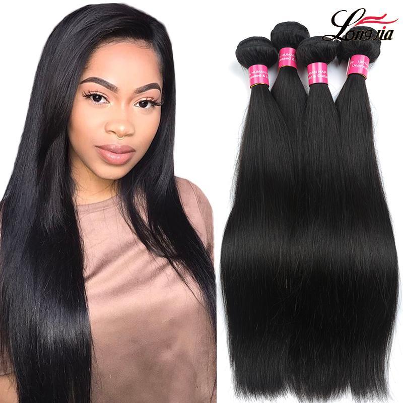 100% Оптовых бразильского Straight человеческих волос Утки Необработанных Бразильские волосы девственниц Прямой мокрые и волнистые бразильские пучки волос
