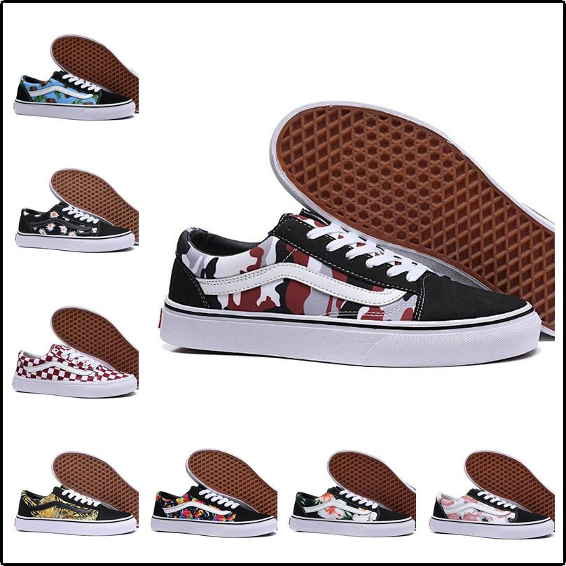 2020 2019 Van Old Skool Classic Men Women Canvas Sneakers Black White YACHT CLUB Red Blue Fashion Trainers Skate Casual Shoes Size 36 44 From