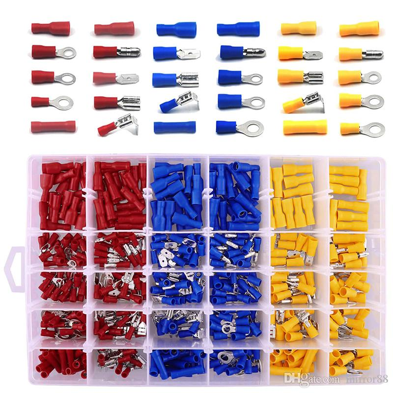 Electrical connectors crimp *Top Quality 100 x Blue bullet terminals Insulated
