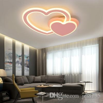 Creative design lamps and lanterns Heart-shaped romance Bedroom lighting Led ceiling lamp rotate modern Acryl