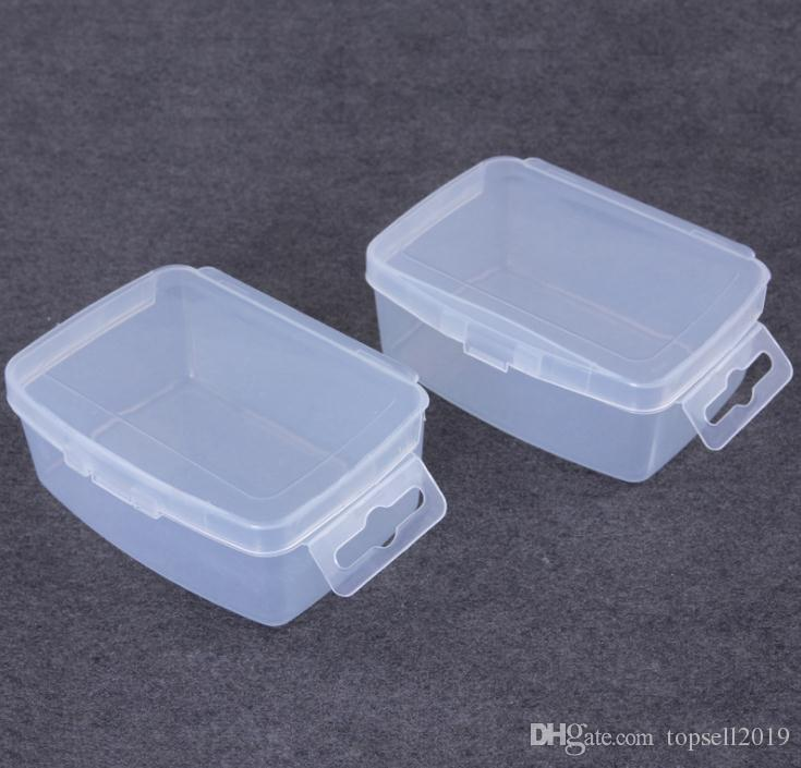 Tragbarer Speicher des kleinen transparenten Plastikkastens, zum des Produktverpackungs-Kassettenhakens 1000pcs / lot SN2570 abzuschließen
