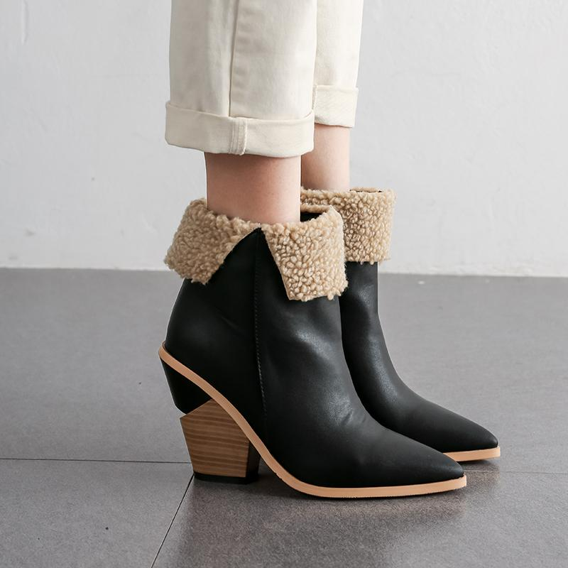 Autumn Winter Ankle Boots Womens
