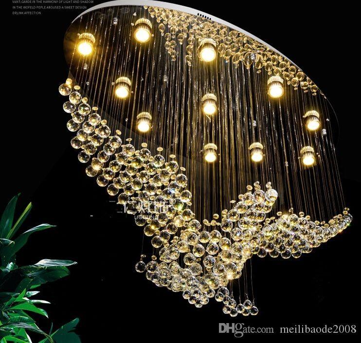 NOVO Indoor Forma Pássaro iluminação do candelabro de cristal Lâmpada Luz moderno para Sala de Jantar Sala de compras LED Shopping lâmpada do teto MYY