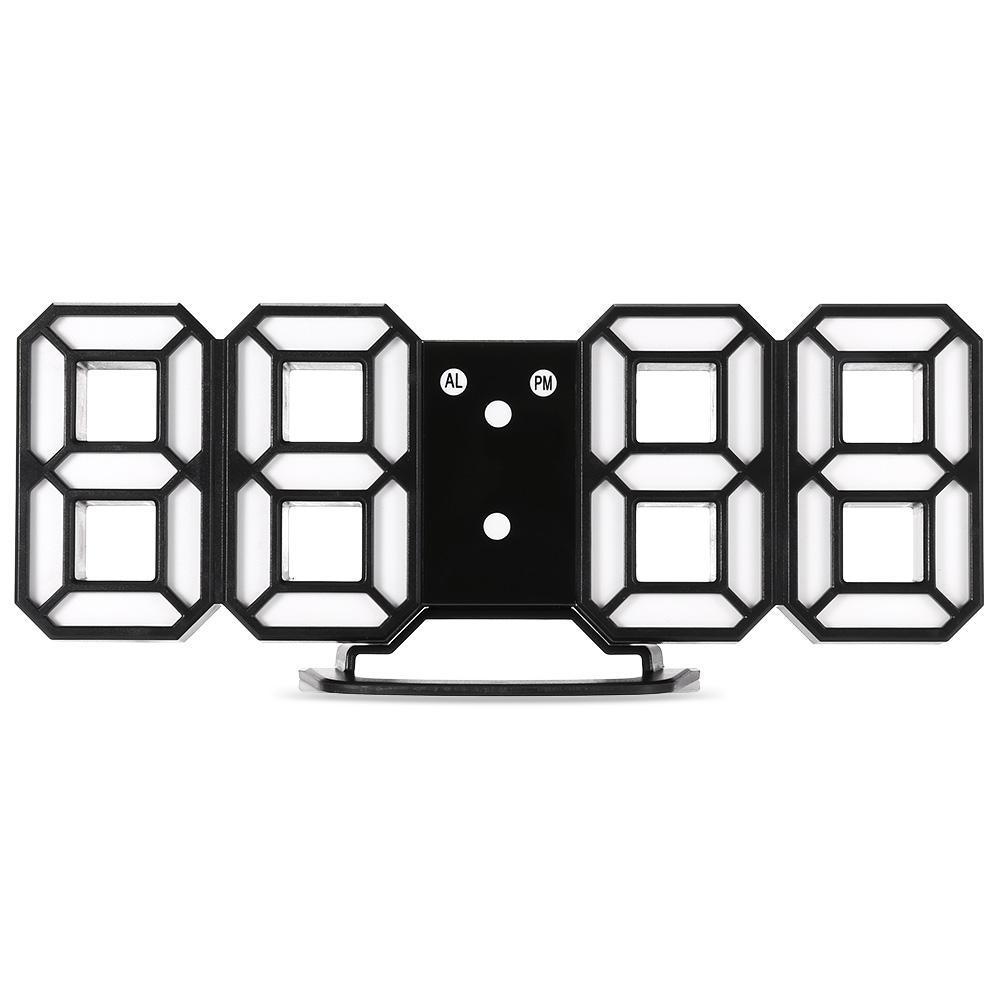 Yeni 1 ADET 3D Modern Duvar Saati Dijital LED Masa Danışma Gece Duvar Saati Çalar İzle 24 Veya 12 Saat Ekran Erteleme Masası Alarmı