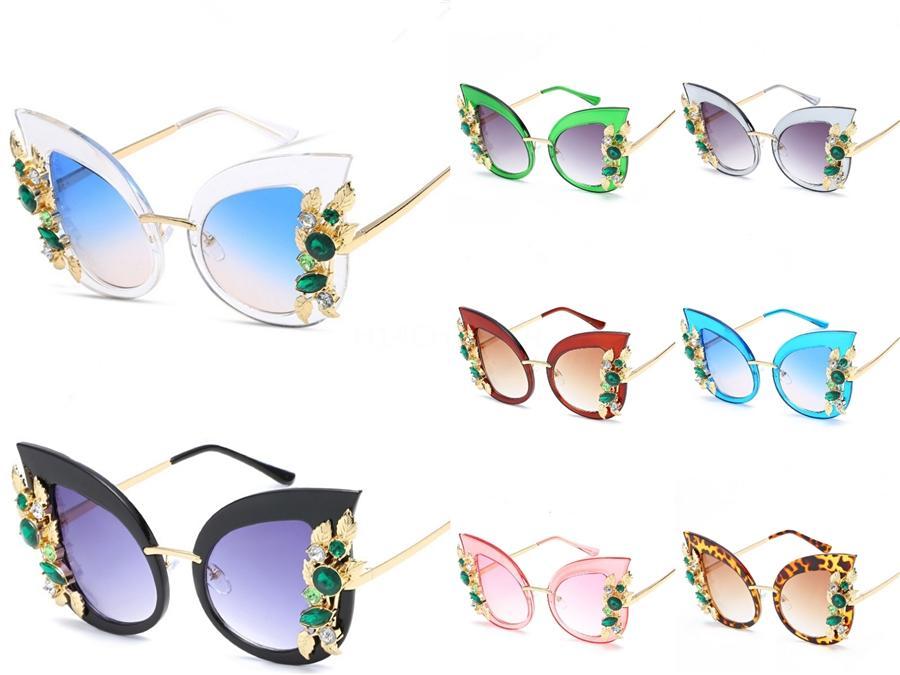 Victorylip trasparenti Occhiali da sole femminile di grande formato lenti trasparenti Gradient Occhiali da sole oversize elegante Rimless Women # 479.841