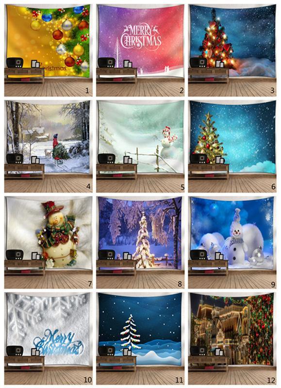 브랜드 크리스마스 벽 태피스트리 보헤미안 스타일 던져 태피스트리 야외 피크닉 담요 카펫 요가 매트 타올 벽 장식 20 개 색상을 매달려