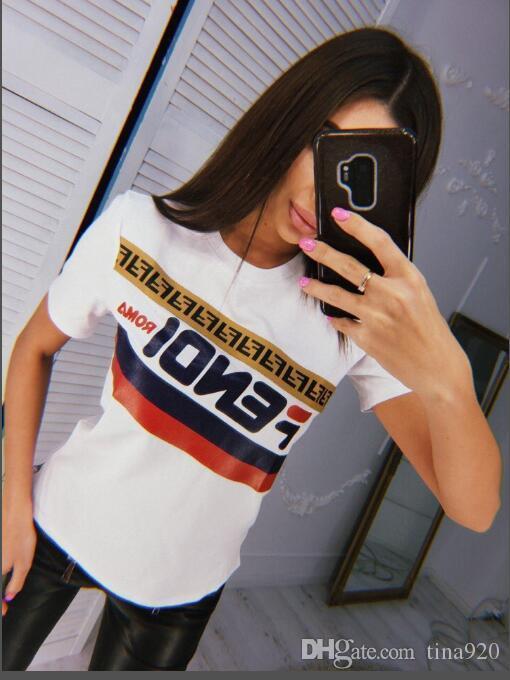 Vente chaude Womens Designer femmes T-shirt imprimé court SleeveTee pour des T-Shirts Casual Summer Hommes Femmes