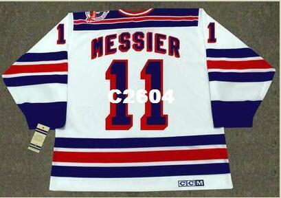 Mens # 11 Mark Messier New York Rangers 1994 CCM Vintage Retro Startseite Hockey Jersey oder benutzerdefinierten beliebigen Namen oder Nummer Retro Jersey