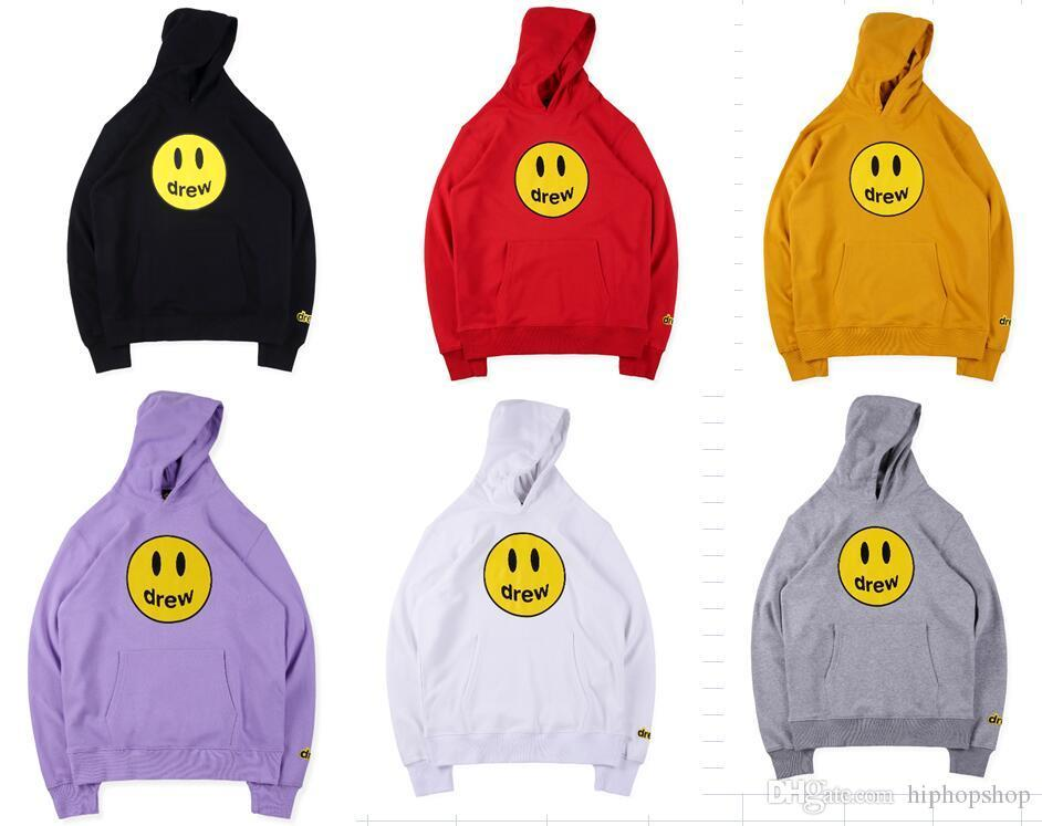 2019 Drew House Hoodies Women Men Justin Bieber Tie Dyeing Graffiti Fashion Casual high quality Drew House Sweatshirts