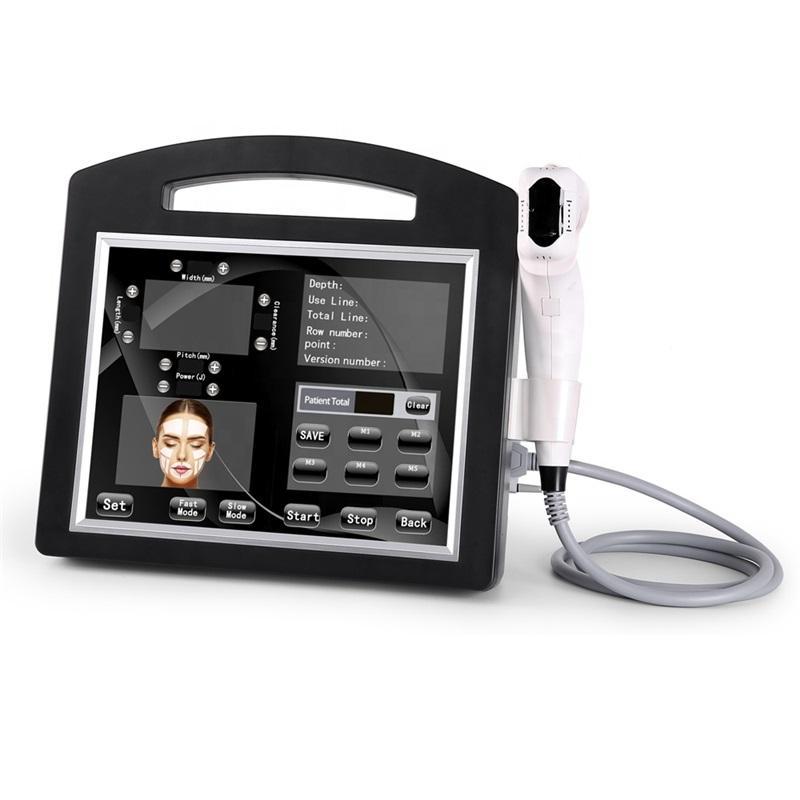 Professionnel HIFU 4D 3D machine 12 lignes à haute intensité Ultrasons Focalisés Hifu Face Lift Anti-rides pour le visage et la poitrine minceur du corps