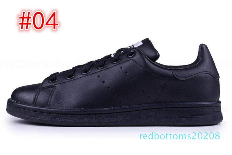 En kaliteli kadın erkek yeni stan ayakkabı moda smith Casual ayakkabılar deri spor klasik Flats 2019 R08 sneakers