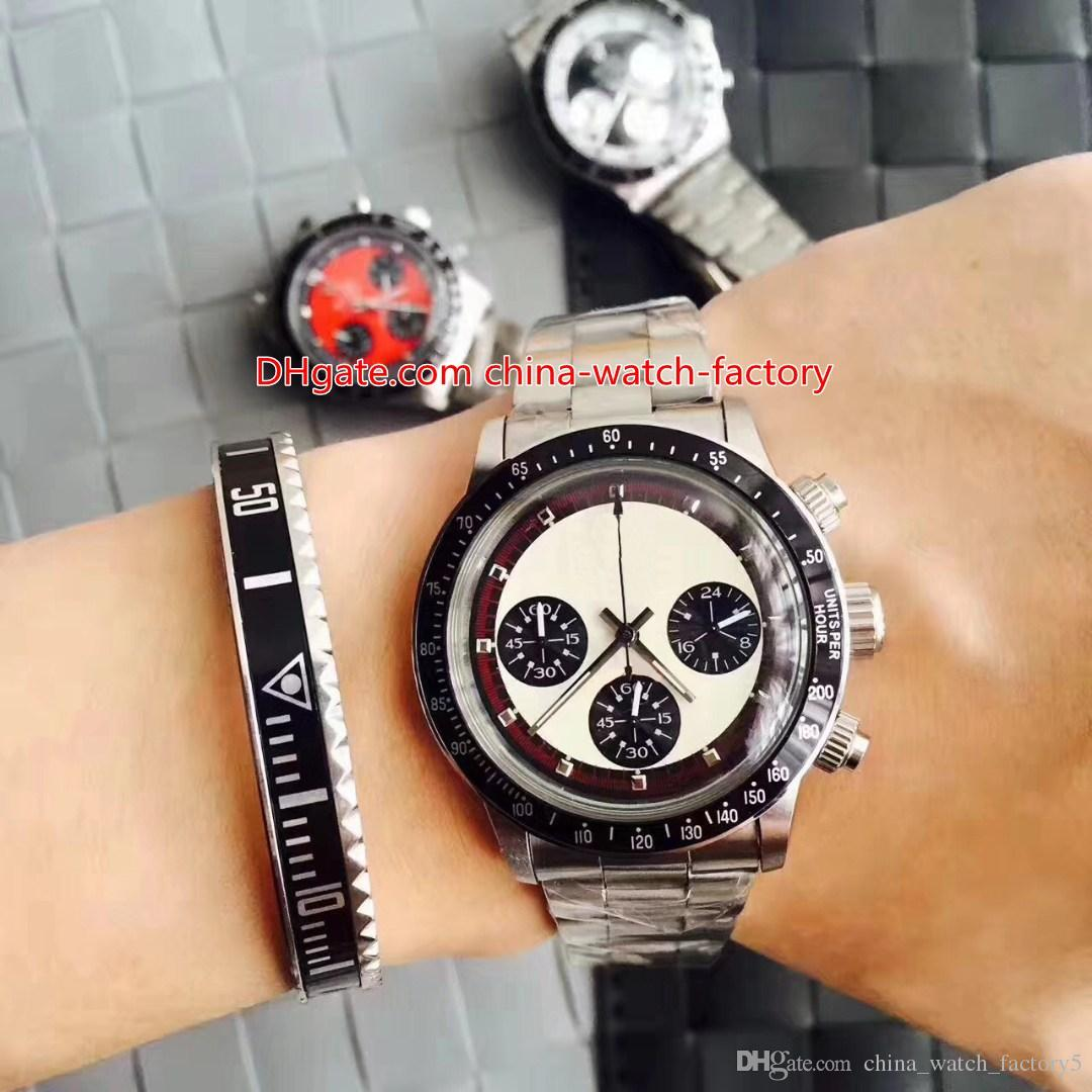 4 Style Top Quality Vintage 38mm Cosmograph Paul Newman 6263 Chronograph Asia CAL.7750 Movement Mechanical Hand-winding Mens Watch Watches