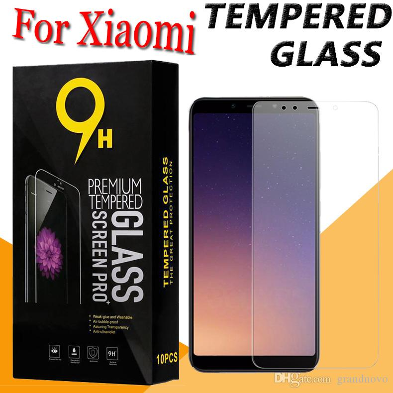 9H Premium Şeffaf Temperli Cam Ekran Koruyucu Film Guard Paketi ile Xiaomi redmi 8 8A 7 6A Not 7S 6 Pro S2 K20 Y2 Y3 Git Anti-damla İçin